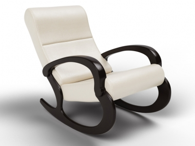 Кресло-качалка Гарда экокожа крем