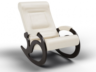 Кресло-качалка Вилла экокожа крем