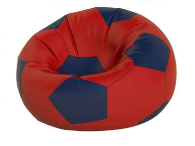 Кресло-мешок Мяч большой нейлон красный-темно синий