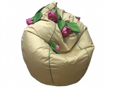 Кресло-мешок Розы нейлон бежевый