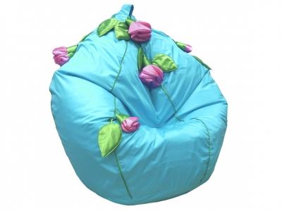 Кресло-мешок Розы нейлон бирюзовый