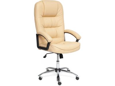 Кресло СH9944 хром + кож.зам Бежевый (36-34)
