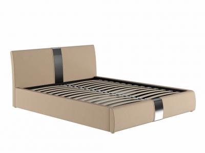 Кровать Челси с подъемным механизмом кожзам бежевый