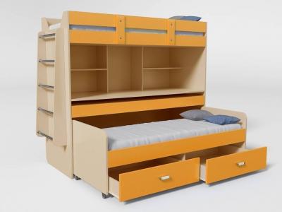 Кровать двухъярусная №2 с ящиком манго