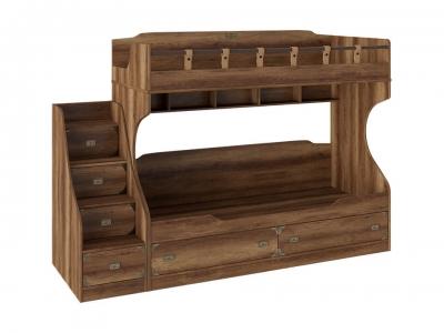 Кровать двухъярусная с лестницей Навигатор СМ-250.11.12 Дуб Каньон