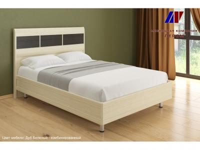 Кровать КР-2802 1400х2000 Дуб Беленый - комбинированный