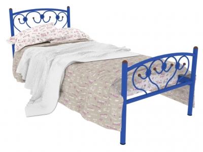 Кровать металлическая Ева Plus синяя