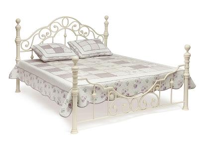 Кровать металлическая Victoria Queen Bed Античный Белый