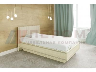 Кровать с мягким изголовьем КР-1012 1400х2000 Ясень Асахи