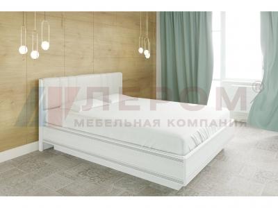 Кровать с мягким изголовьем КР-1013 1600х2000 Снежный Ясень