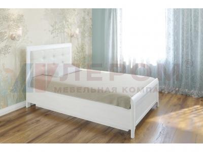 Кровать с мягким изголовьем КР-1031 1200х2000 Снежный Ясень