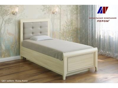 Кровать с мягким изголовьем КР-1035 900х1900 Ясень Асахи