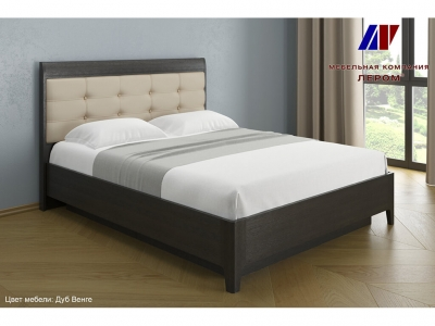 Кровать с мягким изголовьем КР-1073 1600х2000 Дуб Венге