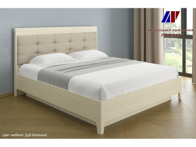 Кровать с мягким изголовьем КР-1074 1800х2000 Дуб Беленый