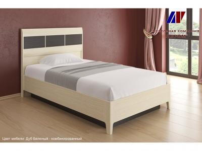 Кровать с подъемным механизмом КР-1761 1200х2000 Дуб Беленый - комбинированный