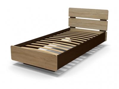 Кровать Жанна 90 с основанием Венге - Дуб сонома