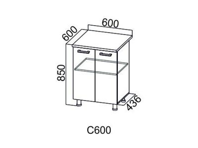 Кухни SV Дополнительный модуль Стол-рабочий 600 С600 850х600х436_600 мм