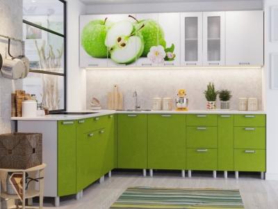 Кухня Модерн фотопечать яблоки