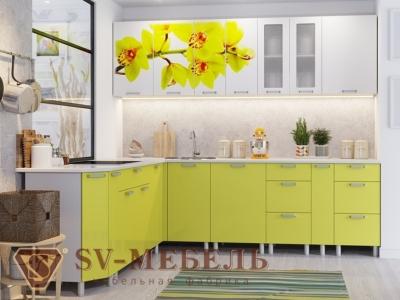 Кухня Модерн фотопечать орхидея
