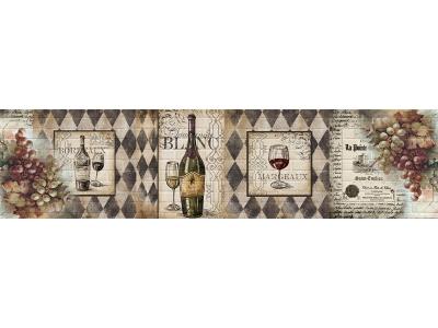 Кухонный фартук Тиснение белое вино