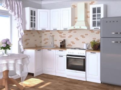 Кухонный гарнитур угловой Белый вегас 1800х1000