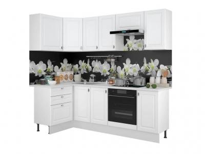 Кухонный гарнитур угловой Ева 1200х2400 Белый Софт