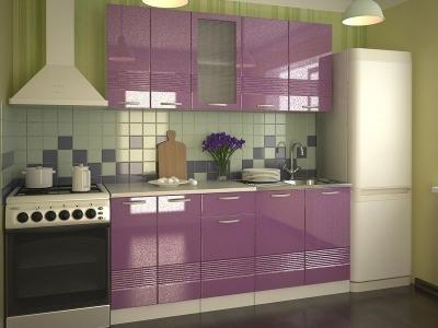 Кухонный гарнитур Волна фиолетовый металлик 1800