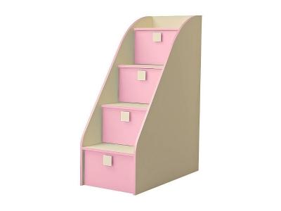 Лестница комод Радуга 450х1224х850 Фламинго