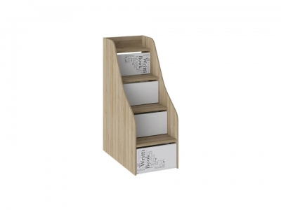 Лестница с ящиками Оксфорд ТД-139.11.12 Ривьера, Белый с рисунком