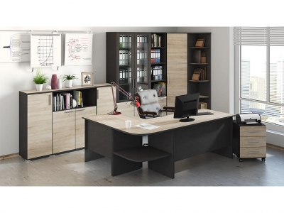 Набор мебели для офиса Успех-2 ГН-184.004 Венге Цаво, Дуб Сонома