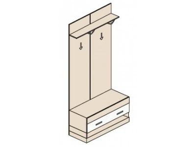 Ника Н3 Шкаф стойка-вешалка 900х379х2221