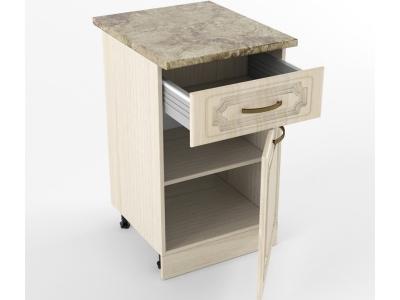 Нижний шкаф Н 500 1 ящик 1 дверь 850х500х600 Грецкий орех