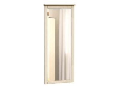 Панель с зеркалом Лаура Дуб сонома - МДФ Лён жемчужный
