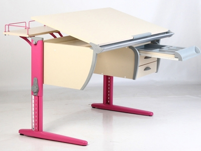 Парта Дэми СУТ-15-04 розовая