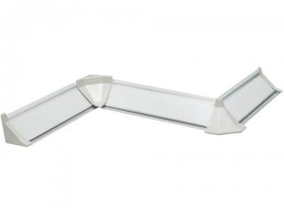 Плинтус кухонный пристенный ДО-007 Белый