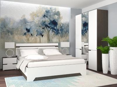 Спальный гарнитур с 3-х створчатым шкафом Анталия Венге-Белый софт