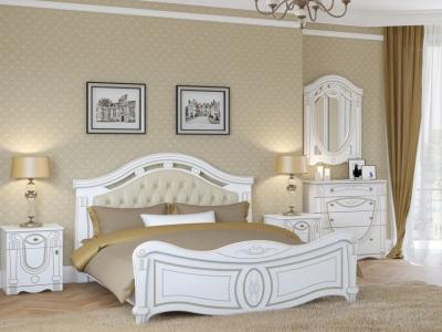 Спальня Александрина белый/патина золото