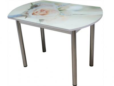 Стол Европейский CK007 Роза за стеклом