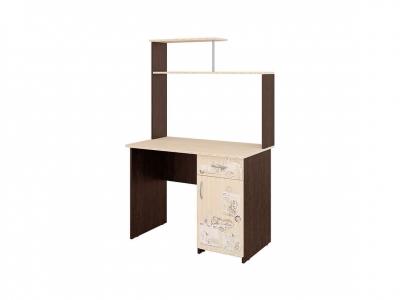 Стол компьютерный Орион-10.10 Лайт Венге - Дуб Кобург 1000х600х1580