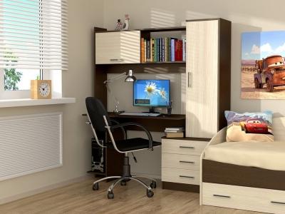 Стол компьютерный Рубин Венге - Дуб млечный