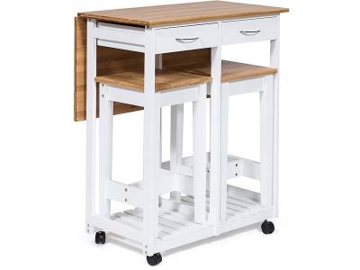 Стол кухонный с табуретом (mod.jwpe-120809) Белый