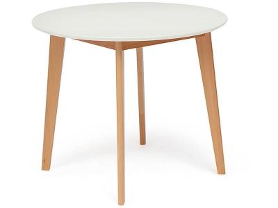 Стол обеденный Bosco D900, Белый + Натуральный Бук