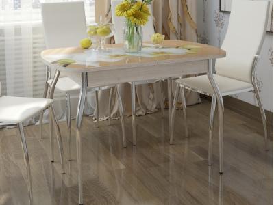 Стол обеденный Грация-2 1550 раздвижной дуб