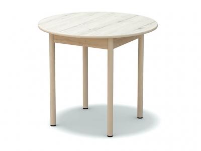 Стол обеденный круглый Дуб эльза - ноги белые