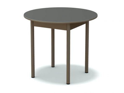 Стол обеденный круглый Платина - ноги серые