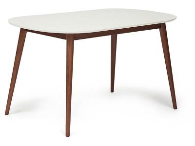 Стол обеденный Max Белый + Коричневый
