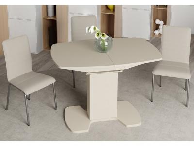 Стол обеденный Портофино СМ(ТД)-105.01.11(1) Бежевое, стекло LUX