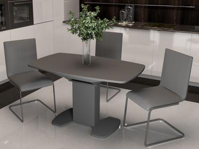 Стол обеденный Портофино СМ(ТД)-105.02.11(1) Серое, cтекло серое матовое LUX