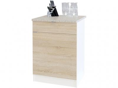 Стол с ящиками Сокол ТК-06.1 Белый/Дуб сонома