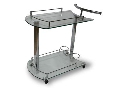 Столик сервировочный на колесиках SC 5066-СG Стекло